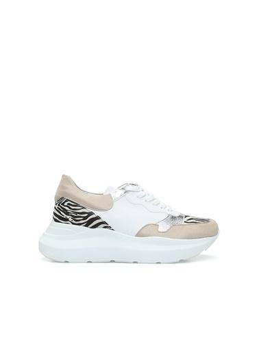 Divarese 5024294 Zebra Kadın Sneaker Bej